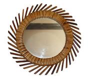 miroir soleil style oeil de sorcière 1970