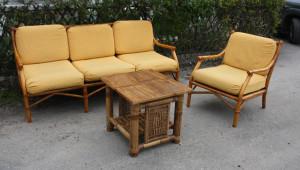 salon bambou vintage