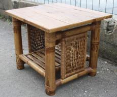 table basse bambou vintage