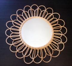 miroir soleil marguerite vintage 1960