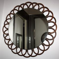 miroir king size rotin foncé thème fleur