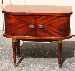 Table de chevet, 1950, acajou, piètement métal