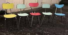 chaises formica couleur années 50 et 60