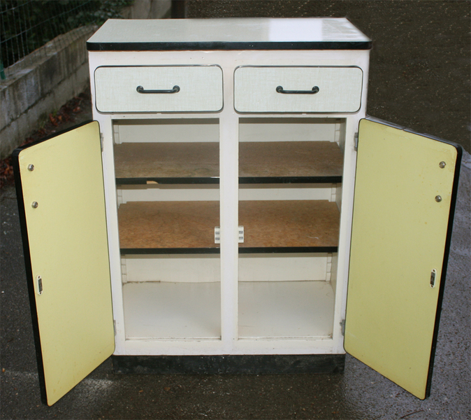 Buffet bas formica for Meuble cuisine 1950