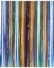 rideau plastique multicolor années 60