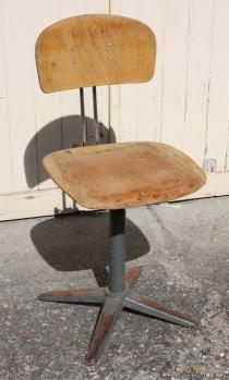 chaise d'atelier, industrielle, années 40 - 60