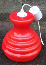 suspension opaline rouge, années 60