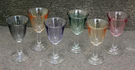 ensemble verres à alcool, verrines, vintage