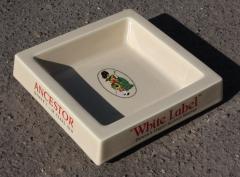 Cendrier vintage, céramique, collector, White Label