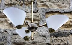 plafonnier années 50 cornets plexiglass