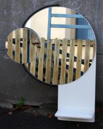 miroir vintage années 70 psychédelique