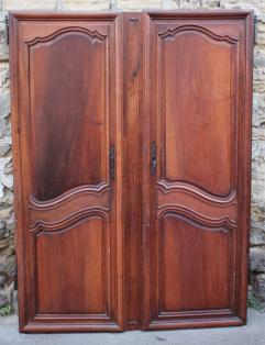 Paire de portes anciennes armoire normande