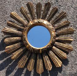 Miroir vintage années 60, bois et dorure