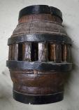 Moyeu de roue en bois, moulin à huile