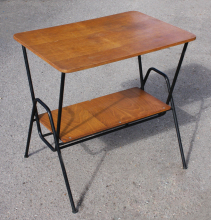 Table TV, desserte, vintage, bois, années 50