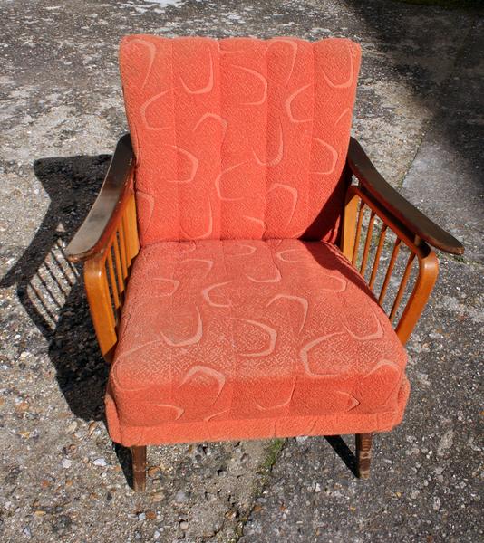 broc co fauteuils vintage ann es 50 70 accoudoir fauteuil bridge fauteuil cocktail. Black Bedroom Furniture Sets. Home Design Ideas