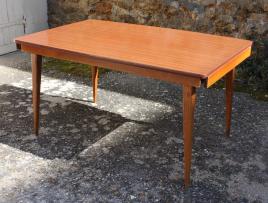 Table bois et formica années 70, allonges