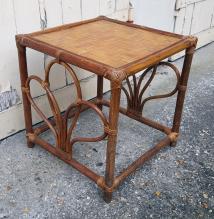 Table basse bambou, vintage, années 60