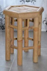 Tabouret octogonal bambou, vintage