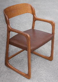 Fauteuil Baumann, traineau, vintage, années 60