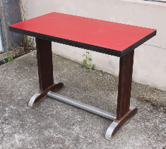 Table de bistrot formica rouge, années 50