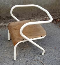 Chaise bureau écolier, Jacques Hitier, année 50