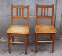 Paire de chaises de ferme, XIXème