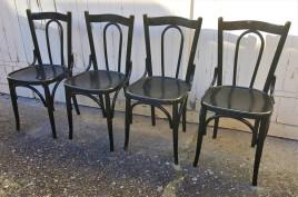 chaises de bistrot en bois