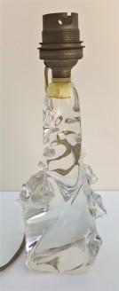 Pied de lampe à poser en cristal, Schneider, Paris, années 40 / 50.