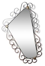 Miroir fer forgé années 50