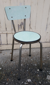 Chaise formica, assise ronde, vintage, années 50