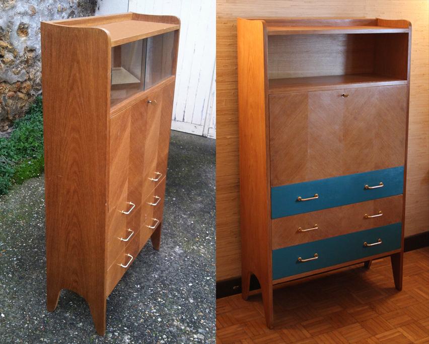 Broc co bureau d 39 coliers secr taire vintage chaise d 39 coli - Bibliotheque annee 50 60 ...