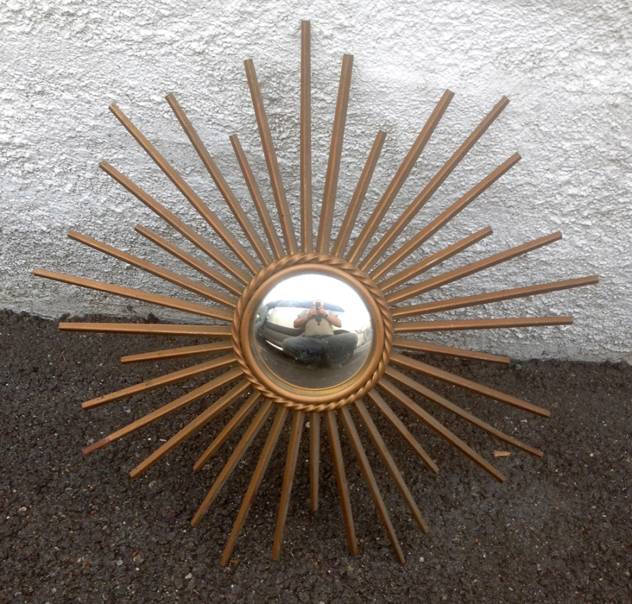 Miroirs soleil miroirs fleurs miroir rotin miroir bambou 1960 vintage - Miroir oeil de sorciere ...