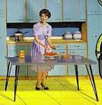 table formica pieds eiffel