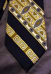 Cravate vintage, motif symétrique