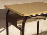 Bureau formica vintage, années 60, un casier
