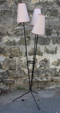 lampadaire tripode vintage 1960