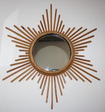miroir soleil en rotin design Abraham