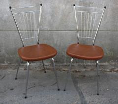 chaises skaï et chrome, 1960