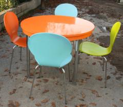 Table formica et chaises 1980
