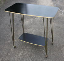 table de TV vintage, 1950, formica