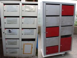 casiers métalliques stylisés