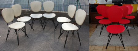 chaises relookées des années 50