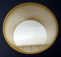 Miroir soleil scandinave vers 1970