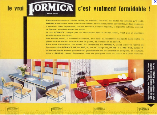 formica, meuble formica, table, chaises, cuisine, buffet formica