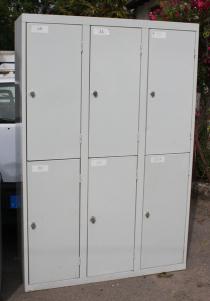 armoire métallique 6 casiers