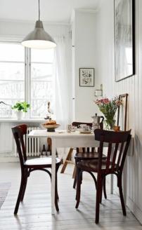 decoration chaise de cuisine en bois