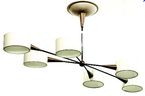 lampes, lustres, suspensions, appliques années 50, 60 et 70, vintage ...