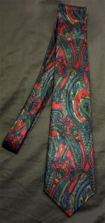 Cravate vintage soie, cachemire