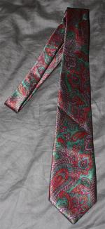 cravate soie cachemire vintage